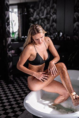 HelloBody Coco Glow Body Scrub (200g) – Veganes Körper Peeling für trockene Haut – für Körper und Gesicht – Natürliches Kaffee Peeling mit leckerem Kokos-Duft - 4