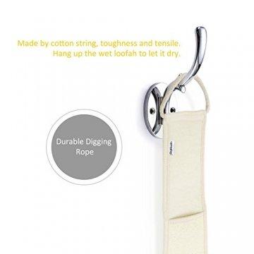 Luffaschwamm Rückenscrubber für Bad und Dusche bei DigHealth, Luffa Körperpad mit Rücken Gurt, 100% Luffa Natur Schwamm, Körper und Gesichts Peeling Set - 8