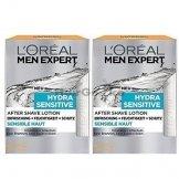 L'Oréal Men Expert After Shave Balsam Hydra Sensitive (2 x 100ml) - 1