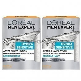 L'Oréal Men Expert After Shave Balsam Hydra Sensitive (2 x 100ml) - 1