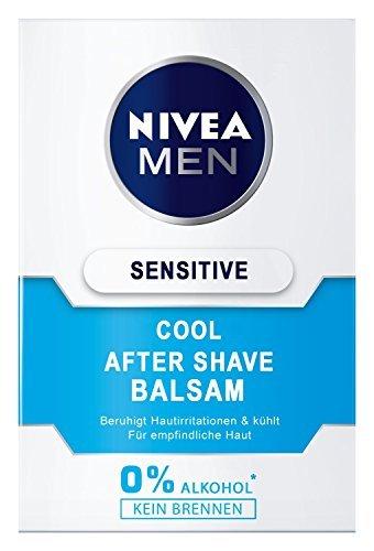 Nivea Men Sensitive Cool After Shave Balsam im 1er Pack (1 x 100 ml), Aftershave pflegt die Haut nach der Rasur, beruhigende und belebende Gesichtspflege - 3