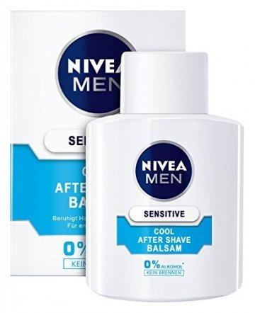 Nivea Men Sensitive Cool After Shave Balsam im 1er Pack (1 x 100 ml), Aftershave pflegt die Haut nach der Rasur, beruhigende und belebende Gesichtspflege - 4