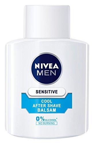 Nivea Men Sensitive Cool After Shave Balsam im 1er Pack (1 x 100 ml), Aftershave pflegt die Haut nach der Rasur, beruhigende und belebende Gesichtspflege - 1