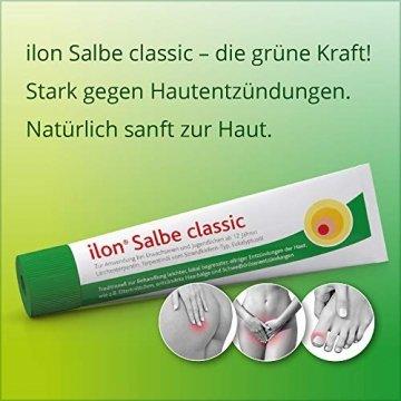 ilon Salbe classic 25g – die grüne Zugsalbe gegen Hautentzündungen bis hin zu kleineren Abszessen, Haarbalgentzündungen oder Schweißdrüsenentzündungen. Natürlich sanft zur Haut mit einzigartiger pflanzlicher Wirkstoffkombination - 2
