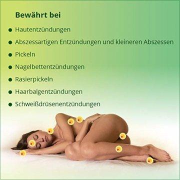 ilon Salbe classic 25g – die grüne Zugsalbe gegen Hautentzündungen bis hin zu kleineren Abszessen, Haarbalgentzündungen oder Schweißdrüsenentzündungen. Natürlich sanft zur Haut mit einzigartiger pflanzlicher Wirkstoffkombination - 3
