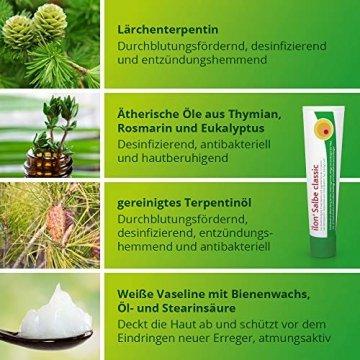 ilon Salbe classic 25g – die grüne Zugsalbe gegen Hautentzündungen bis hin zu kleineren Abszessen, Haarbalgentzündungen oder Schweißdrüsenentzündungen. Natürlich sanft zur Haut mit einzigartiger pflanzlicher Wirkstoffkombination - 4