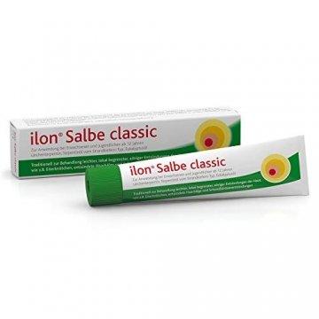 ilon Salbe classic 25g – die grüne Zugsalbe gegen Hautentzündungen bis hin zu kleineren Abszessen, Haarbalgentzündungen oder Schweißdrüsenentzündungen. Natürlich sanft zur Haut mit einzigartiger pflanzlicher Wirkstoffkombination - 1